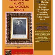 Nabożeństwo ku czci Św. Andrzeja Boboli