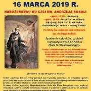Obraz św. Andrzeja Boboli w Sanktuarium Serca Jezusa Miłosiernego w Kaliszu Wielkopolskim.