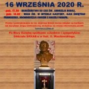 NABOŻEŃSTWO KU CZCI ŚW. ANDRZEJA BOBOLI – 16 WRZEŚNIA 2020 R.