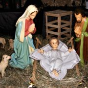 Szopka bożonarodzeniowa 2019 w kościele św. Andrzeja Boboli w Szczecinie, ul. Pocztowa 22