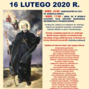 NABOŻEŃSTWO KU CZCI ŚW. ANDRZEJA BOBOLI - 16 LUTEGO 2020 R.