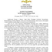 Słowo Pasterskie Ks. Abp. Metropolity na 15.03.2020