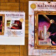 kalendarz ścienny oraz biurkowy na 2021 rok, wydany przez Oddział Stowarzyszenia Krzewienia Kultu Św. Andrzeja Boboli przy Sanktuarium Św. Andrzeja Boboli w Szczecinie